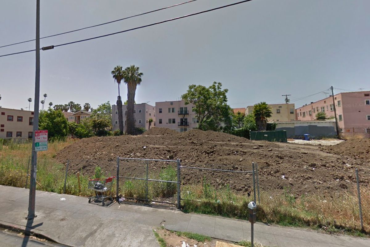 Street view of project site at 2482 James M. Wood Boulevard