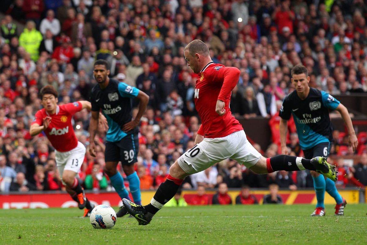 A time when Rooney could score Penalties.....  (Photo by Alex Livesey/Getty Images)