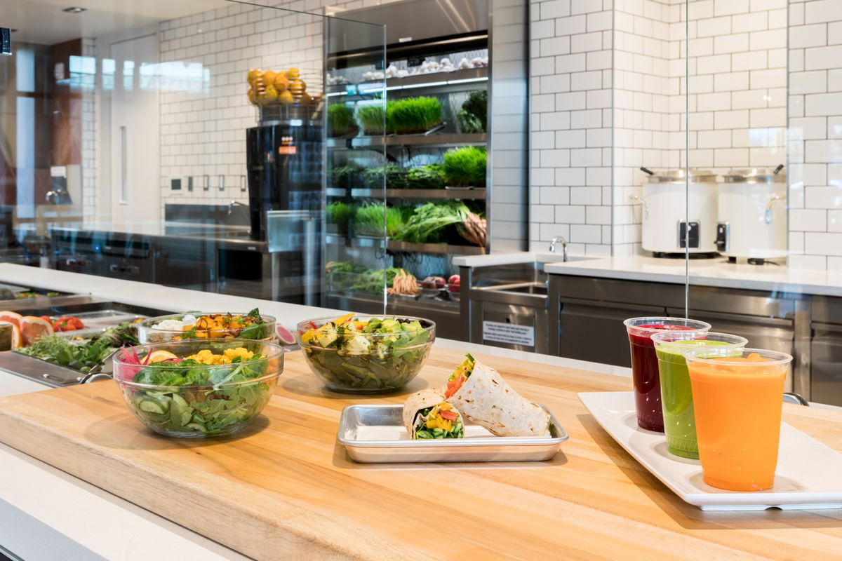 Salads and smoothies at State Street Market