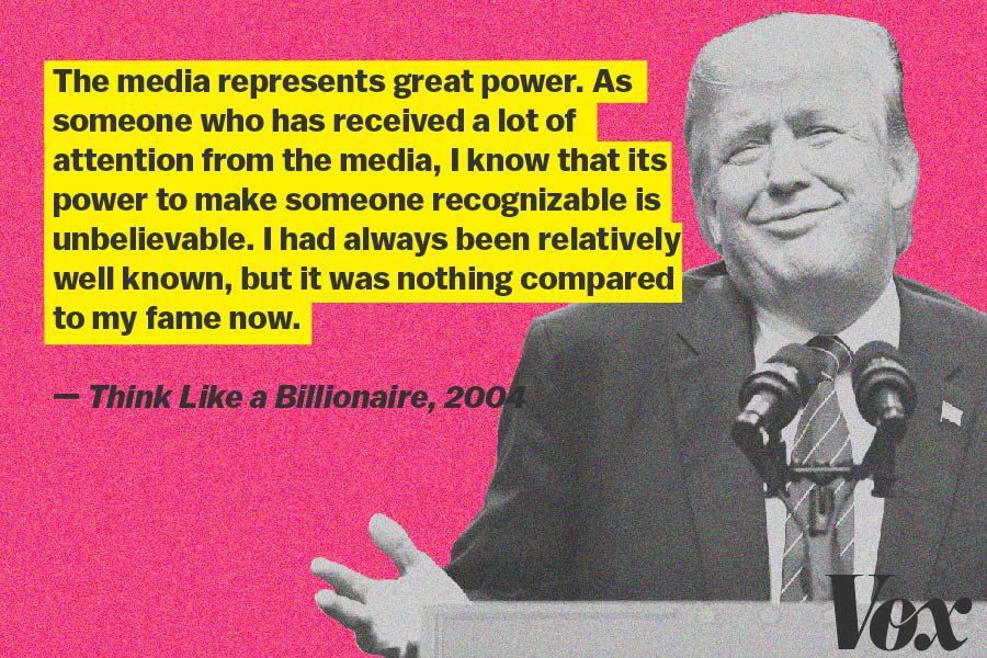 Trump writes about the power of the media after the Apprentice in 2004