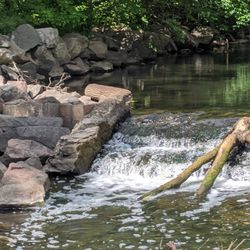 New Deal project: Remove old dam and improve water flow, Bassett's Creek, Minneapolis (WPA, 1936)