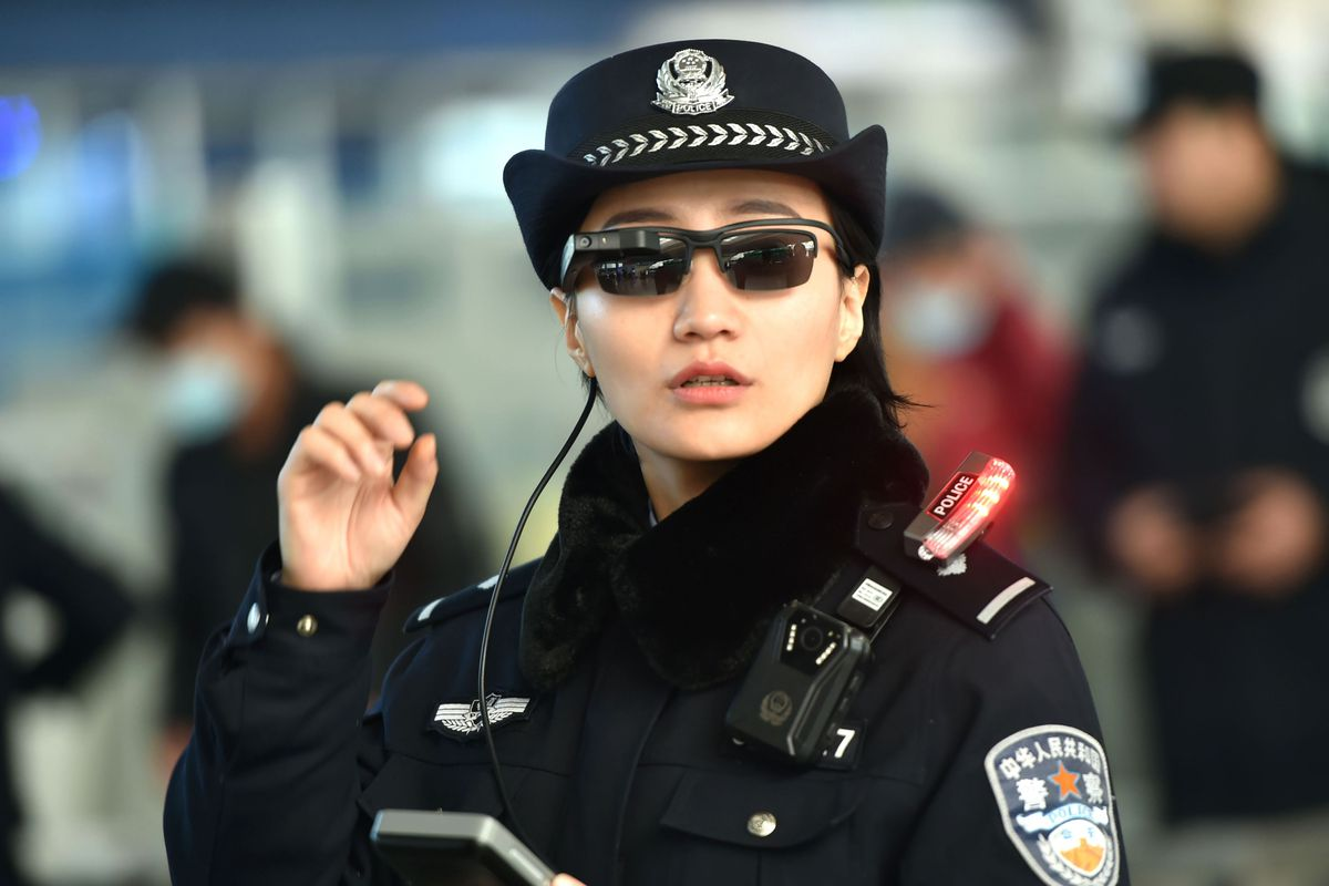 7d8629015d Chinese police are using facial recognition sunglasses to track citizens