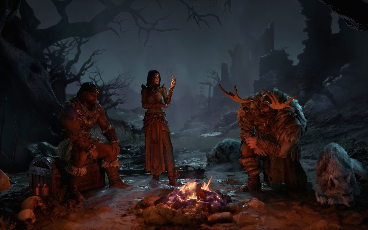 Diablo 4 campfire