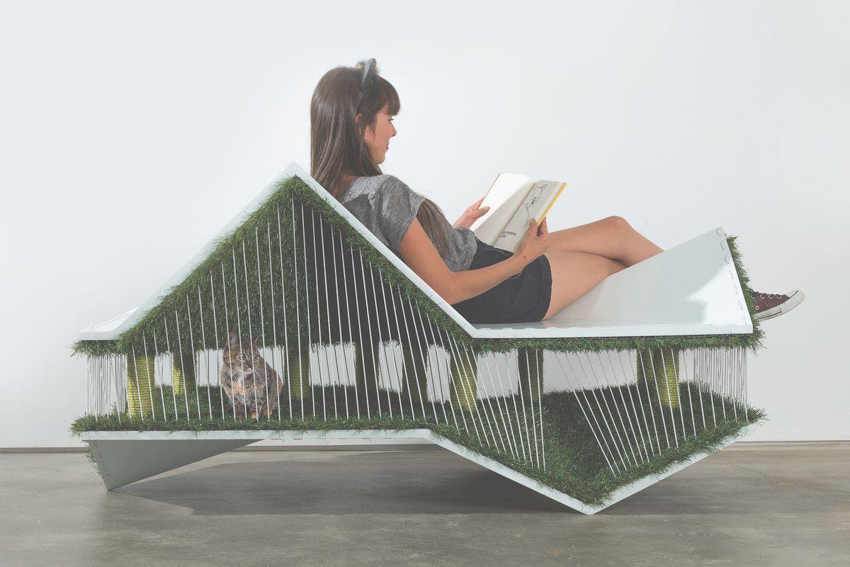 futuristic cat house