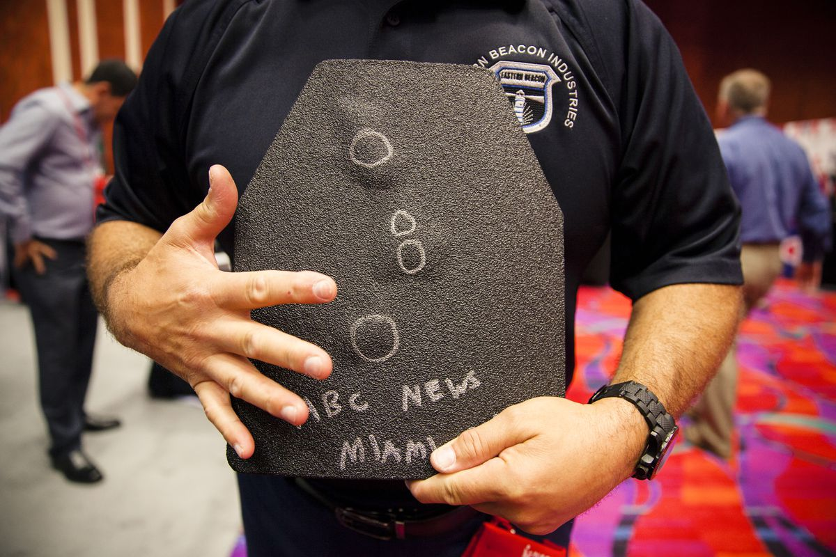 Eastern Beacon Industries ballistic backpack contains two polyurethane plates that weigh 1.6 lbs each.