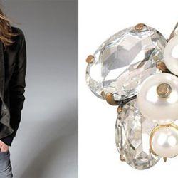 Left: Zadig & Voltaire blazer, $119 (was $590). Right: Lee Angel ring, $45 (was $75.)