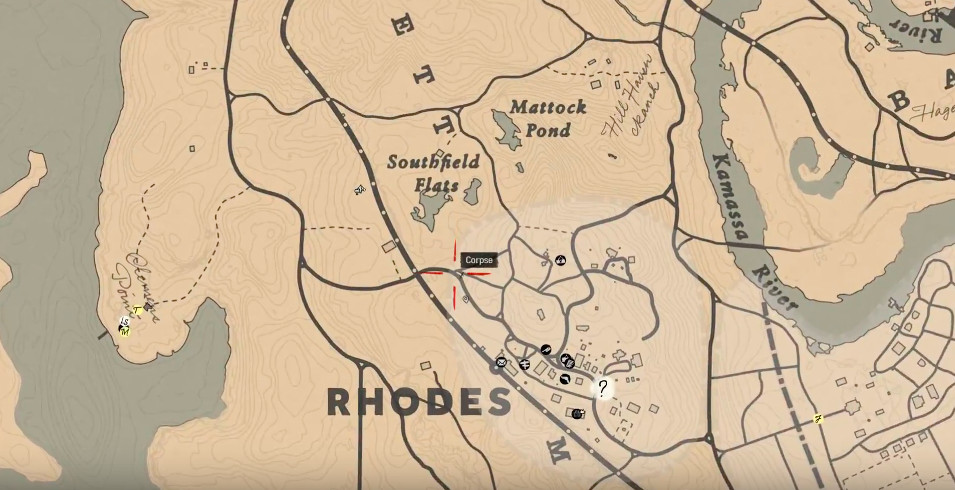 Red Dead Redemption 2 has a cursed road on Rhodes that always sets