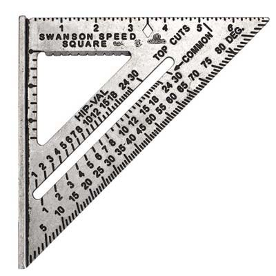 A speed square is a classic angle finder tool.