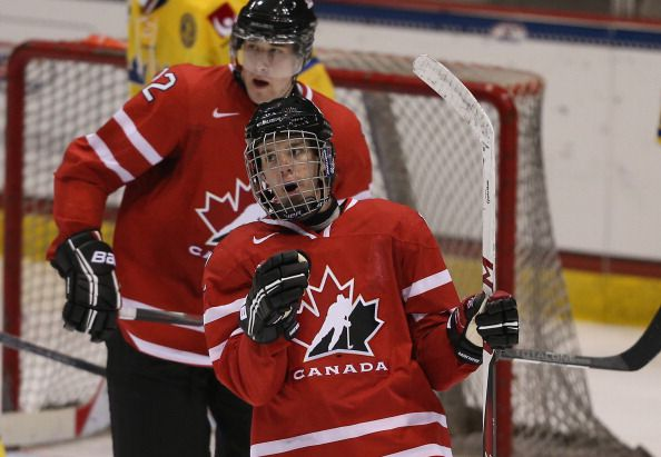 Connor McDavid has also been a integral part of the Canadian Junior Team. (Photo courtesy of Bruce Bennett/Getty Images)