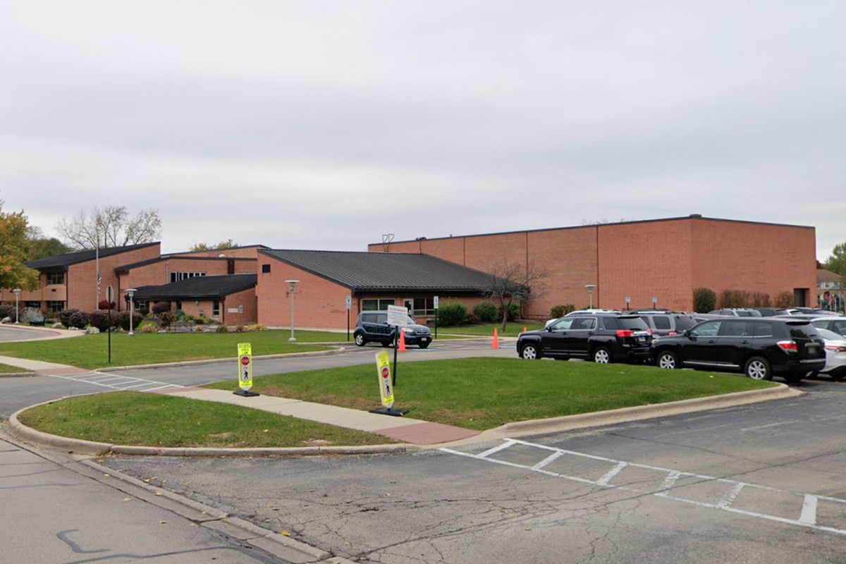 Authorities are looking for someone who shot windows with a BB gun at Clow Elementary School, 1301 Springdale Circle in Naperville, in January 2020.
