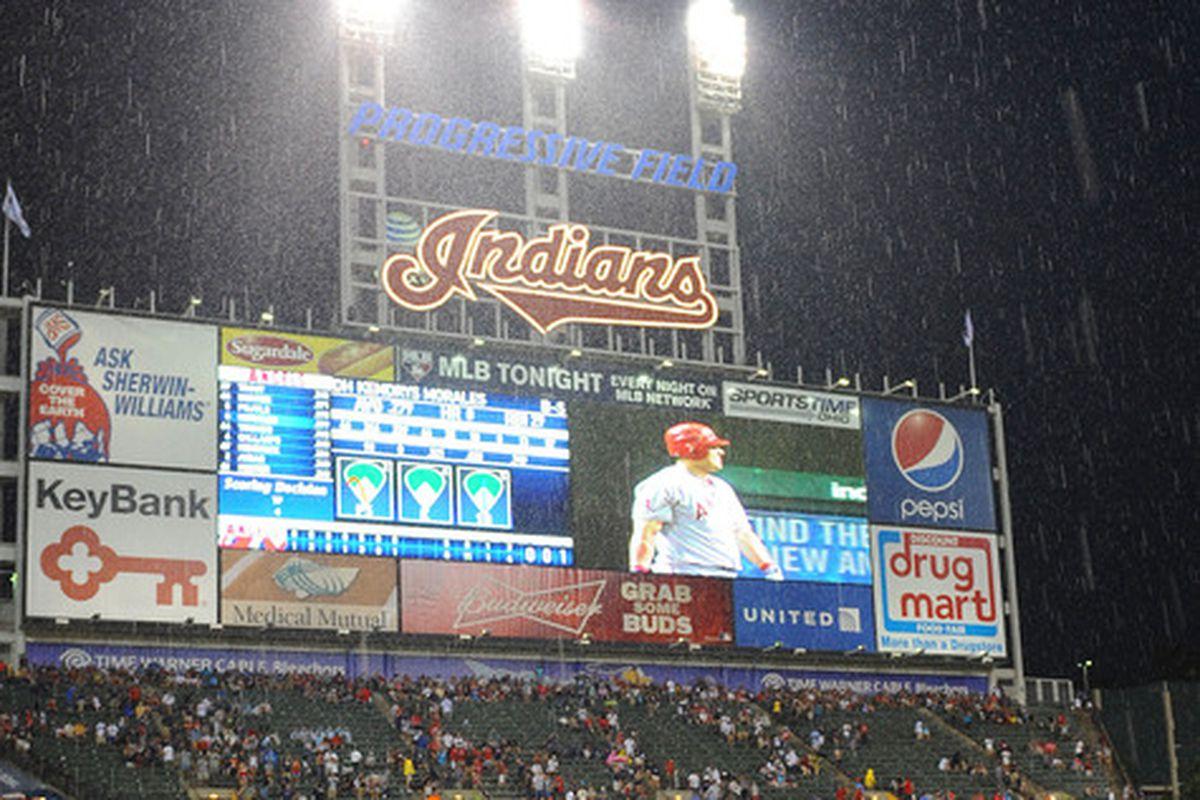 It's raining in Cleveland. Still.