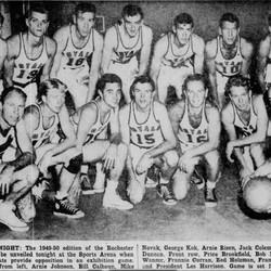 1949-1950: Rochester Royals (NBA)