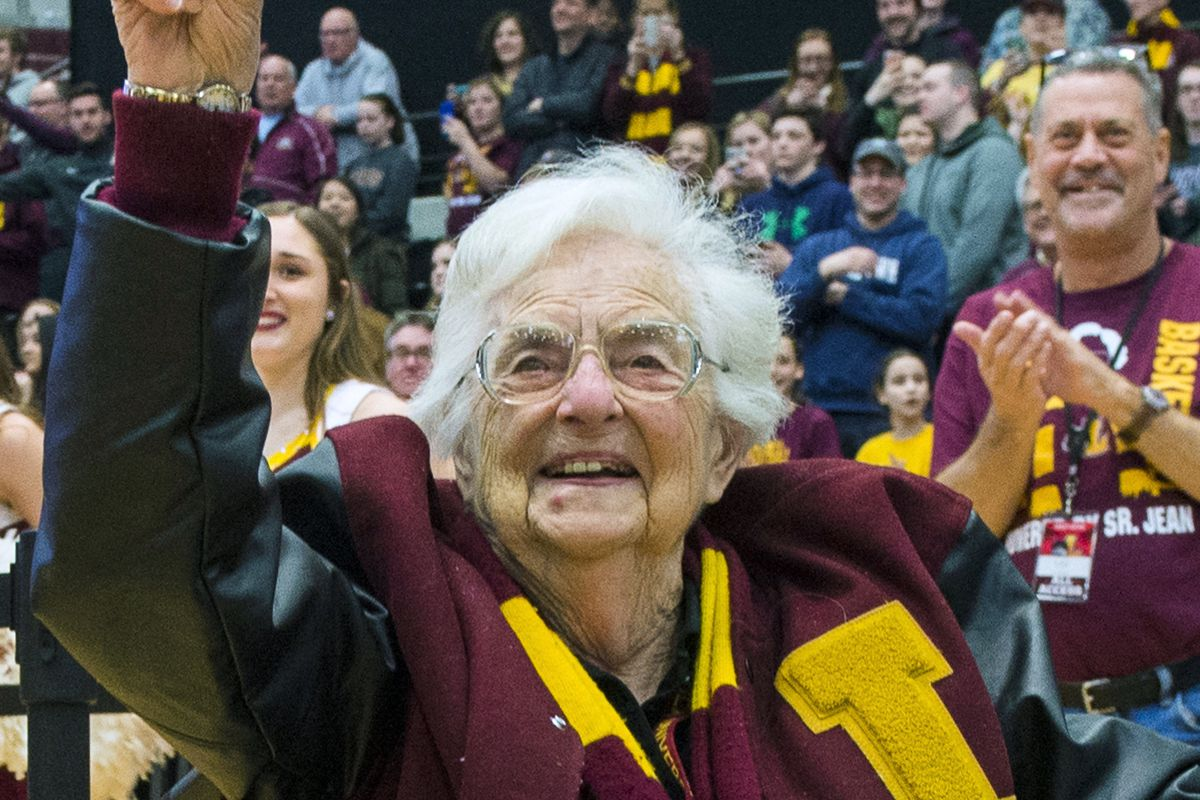 Sister Jean Dolores Schmidt addressed Loyola and  the community at large.