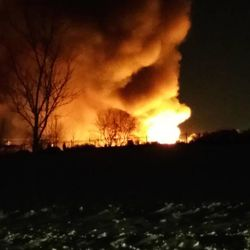 Crews respond to a two-alarm fire in an industrial area near 4800 West and 5150 South in Kearns on Tuesday, Dec. 30, 2014.