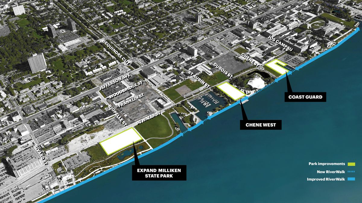 Detroit Riverfront Conservancy Reveals Plans For East
