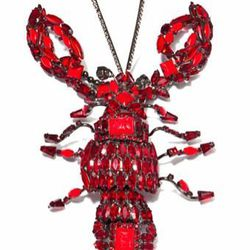 """<a href=""""http://modaoperandi.com/gift-guide-extravagant-gestures/holiday-2012/accessories-934/item/david-mandel-red-lobster-showstopper-pin-137339"""">Carole Tanenbaum David Mandel Red Lobster Showstopper Pin</a>, $4,000. The last time a lobster was a """"show"""