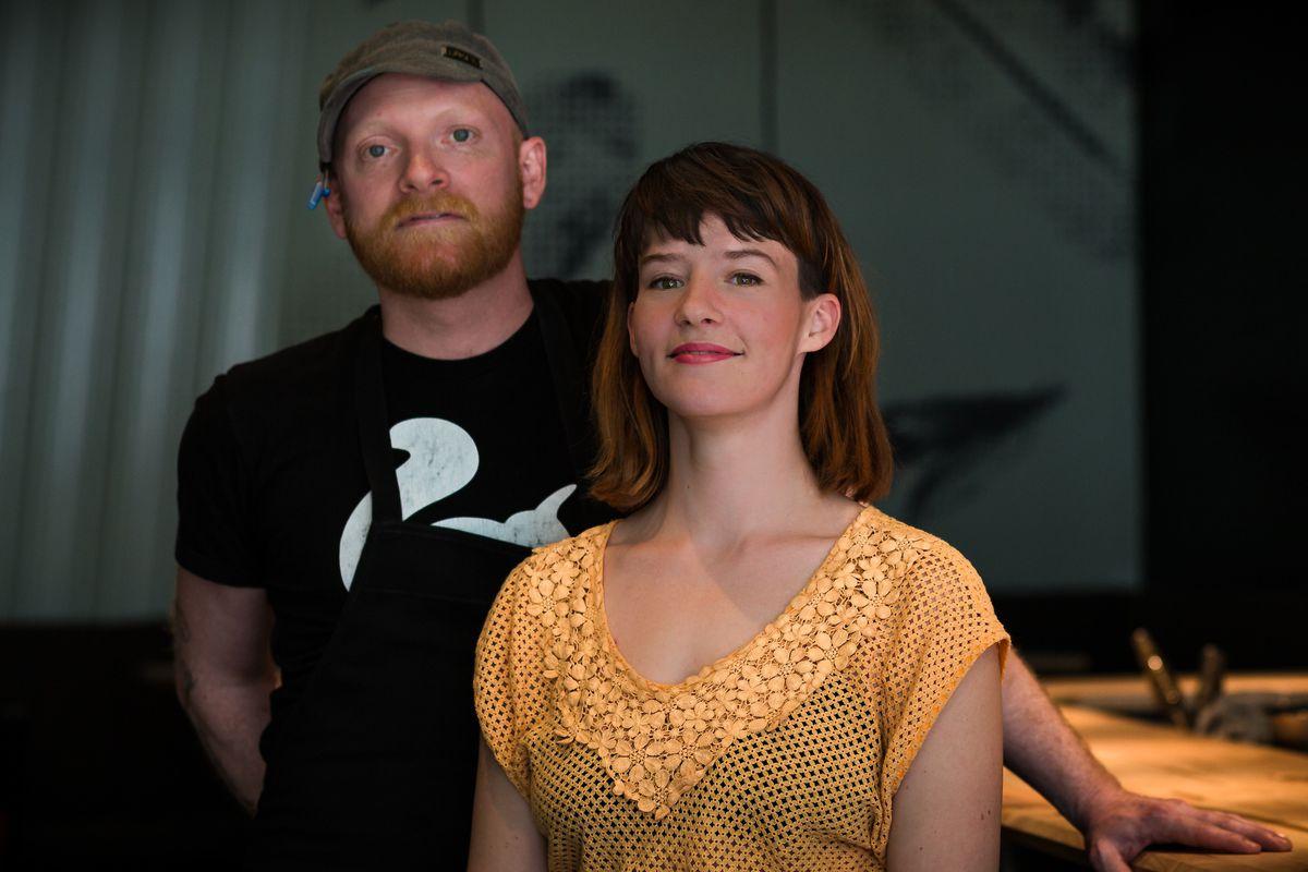 Proud restaurateurs David Pellizzari and Catherine Draws