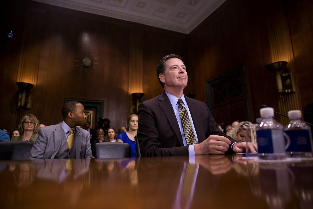 James Comey testifies at Senate Judiciary Committee hearing on May 3, 2017