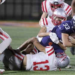 Bountiful plays Brighton in a football game at Brighton High School in Cottonwood Heights on Friday, Sept. 4, 2020. Brighton won 36-17.