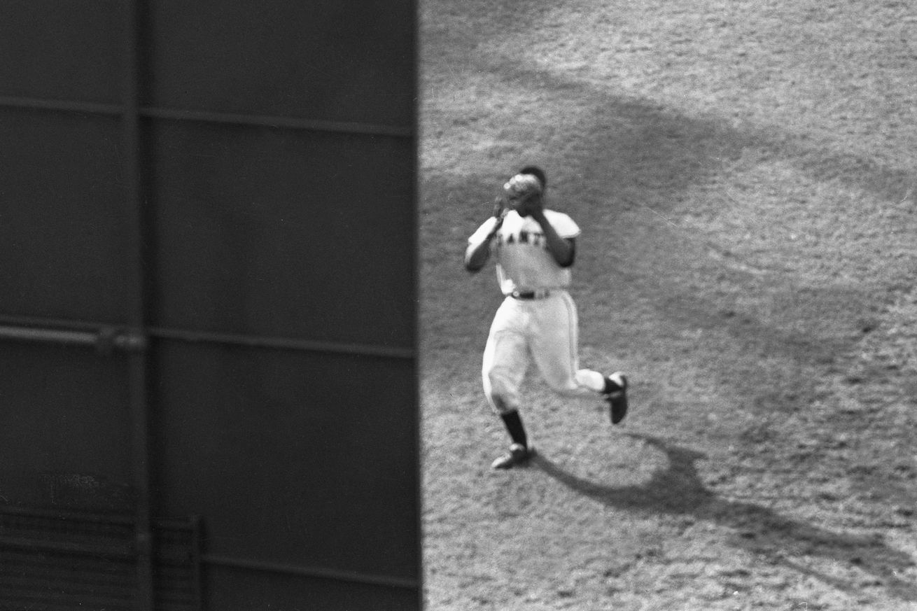 Willie Mays Catching Baseball