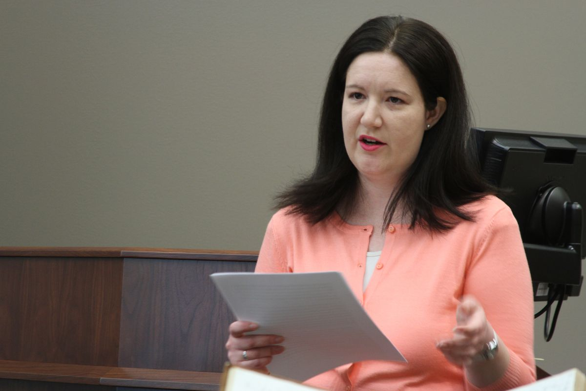 """Elizabeth A. Kuehn, seen here speaking in 2017, was the lead historian for latest Joseph Smith Papers release, """"Documents, Volume 10."""""""