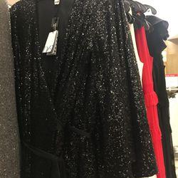 DVF sequin maxi dress, $480
