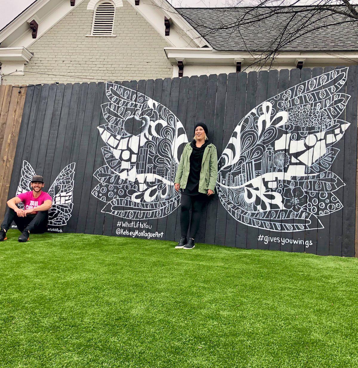 Fetch owner Stephen Ochs and artist Kelsey Montague