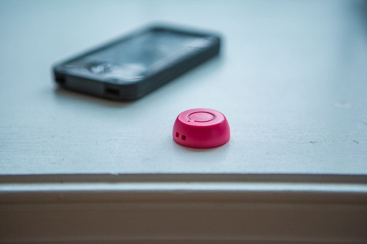 The HISY iPhone shutter remote helps you snap those group selfies.