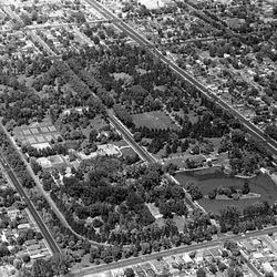 Liberty Park as seen from the air in 1958. Deseret News Archives