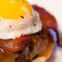 Sunrise Bison Burger at <b>Granville Moore's</b>.