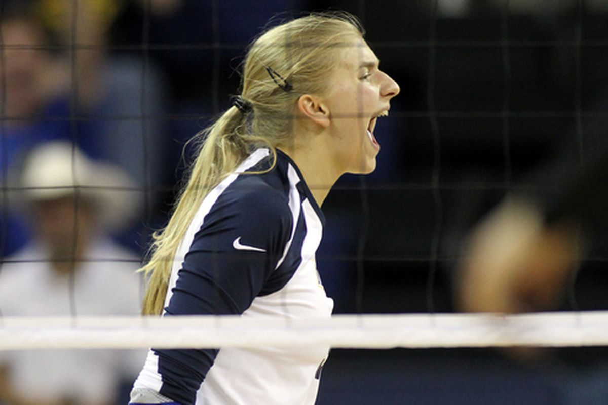 Nele Barber is fired up about winning the Big East regular season title.