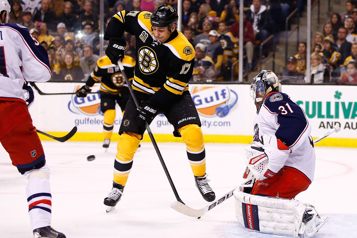 Milan Lucic lurks at net front