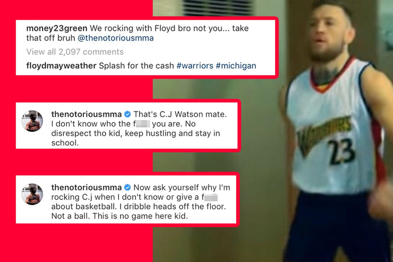 Conor McGregor and Draymond Green squabbled on Instagram because of a Warriors jersey