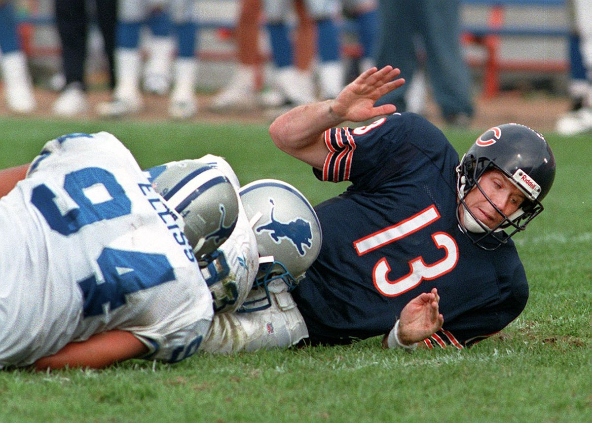 Quarterback Rick Mirer wasn't exactly a hit with the Bears.