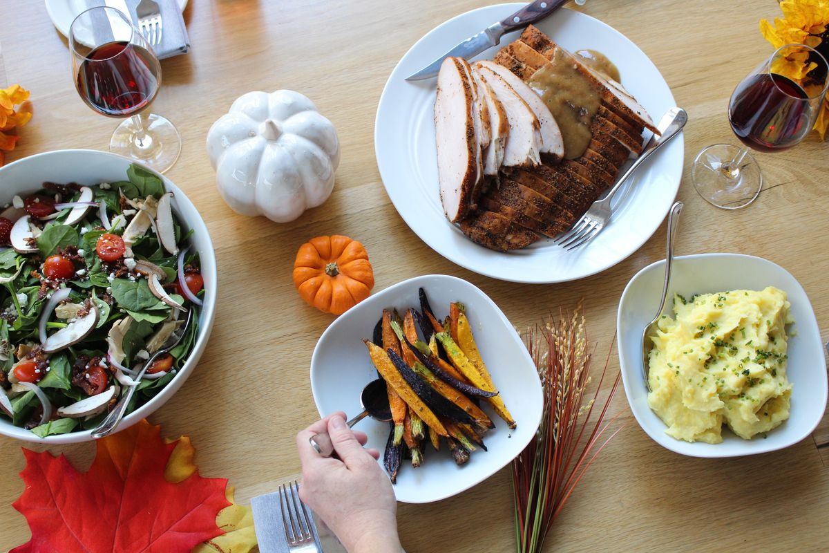 The Thanksgiving meal from Rosedale Kitchen