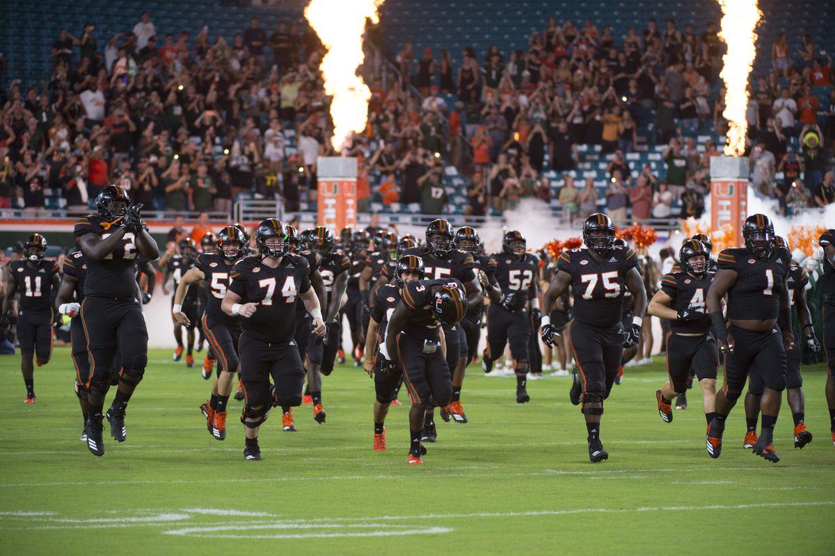 COLLEGE FOOTBALL: SEP 27 North Carolina at Miami