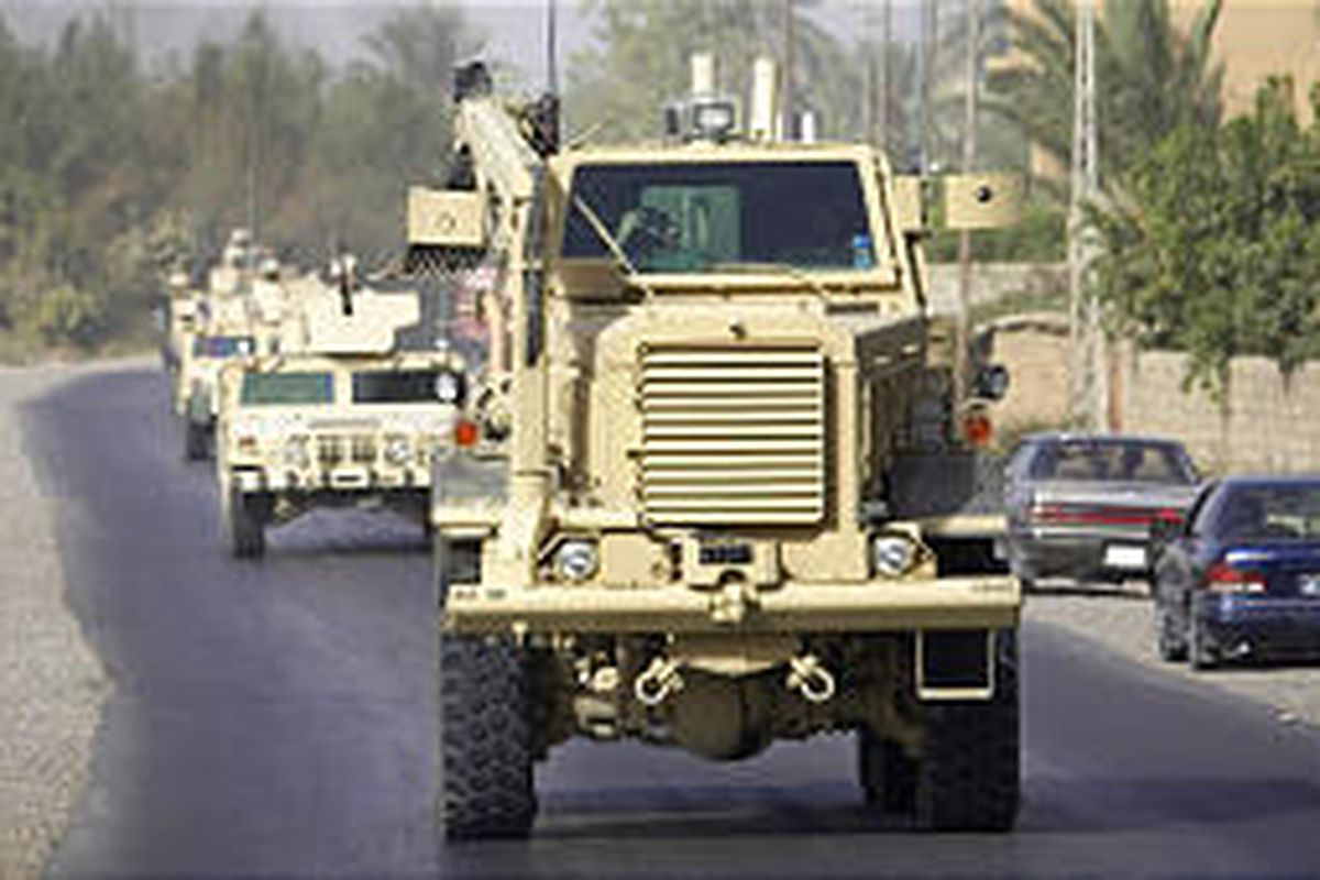The Buffalo's V-shaped, blast-resistant hull enables it to withst and a roadside bomb by directing the blast's force away from the vehicle.