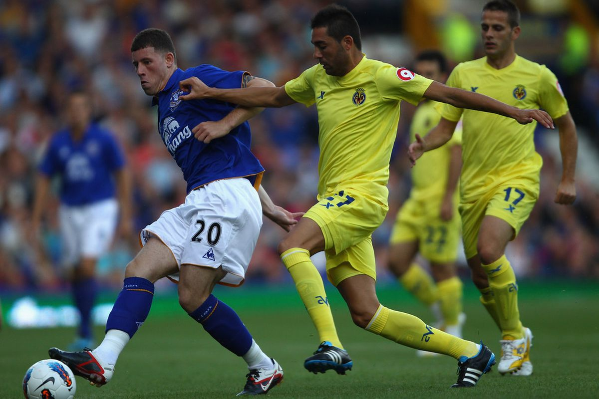 Bruno and Camuñas in action against Everton.
