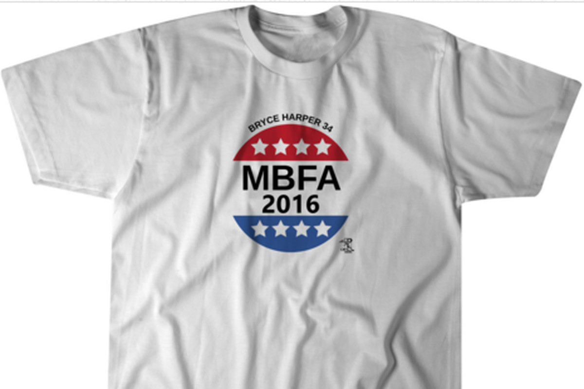 Get your bryce harper mbfa2016 t shirt from breaking t for Bryce harper mvp shirt