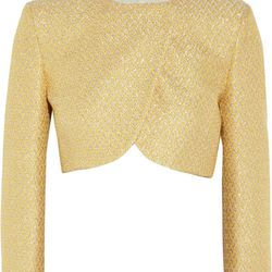 """<a href=""""http://www.theoutnet.com/product/259316"""">M Missoni Cropped metallic tweed jacket</a>, $168 (was $840)"""