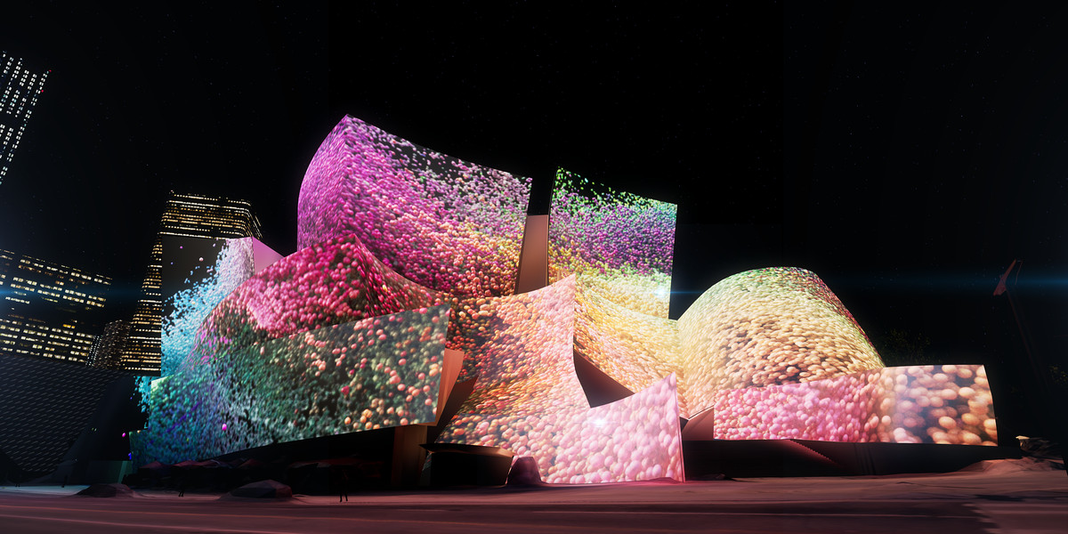 Take a sneak peek at the dazzling projections set to cover Walt Disney Concert Hall
