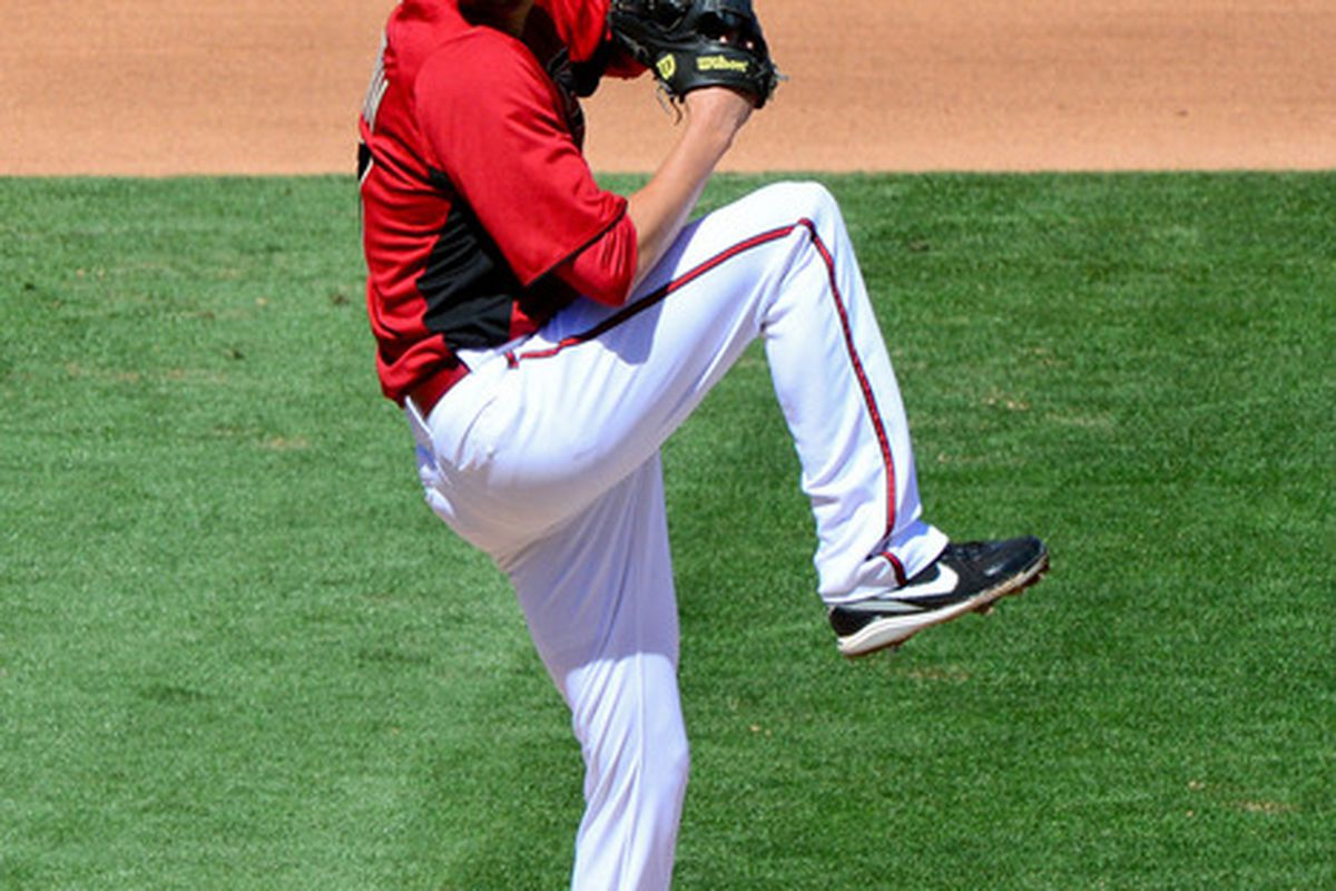Left-hander Patrick Corbin had a solid start for the BayBears on Friday night, worked seven innings of three-run ball.