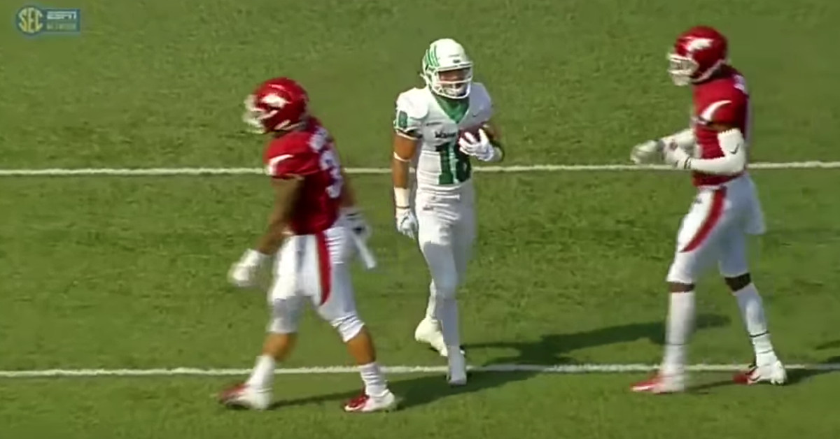 North Texas explains the (amazingly elaborate) FAKE FAIR CATCH touchdown trick