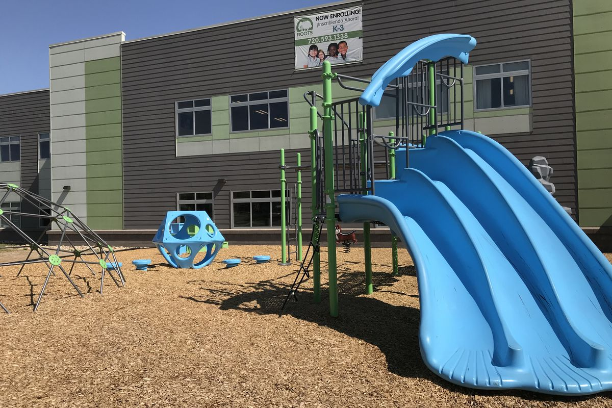 The playground at Roots Elementary in Denver.
