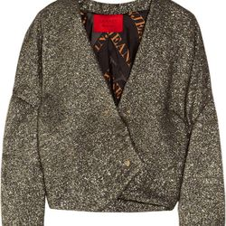 "<a href=""http://www.theoutnet.com/product/164705"">Lanvin Metallic bouclé jacket</a>, $656 (was $3,280)"
