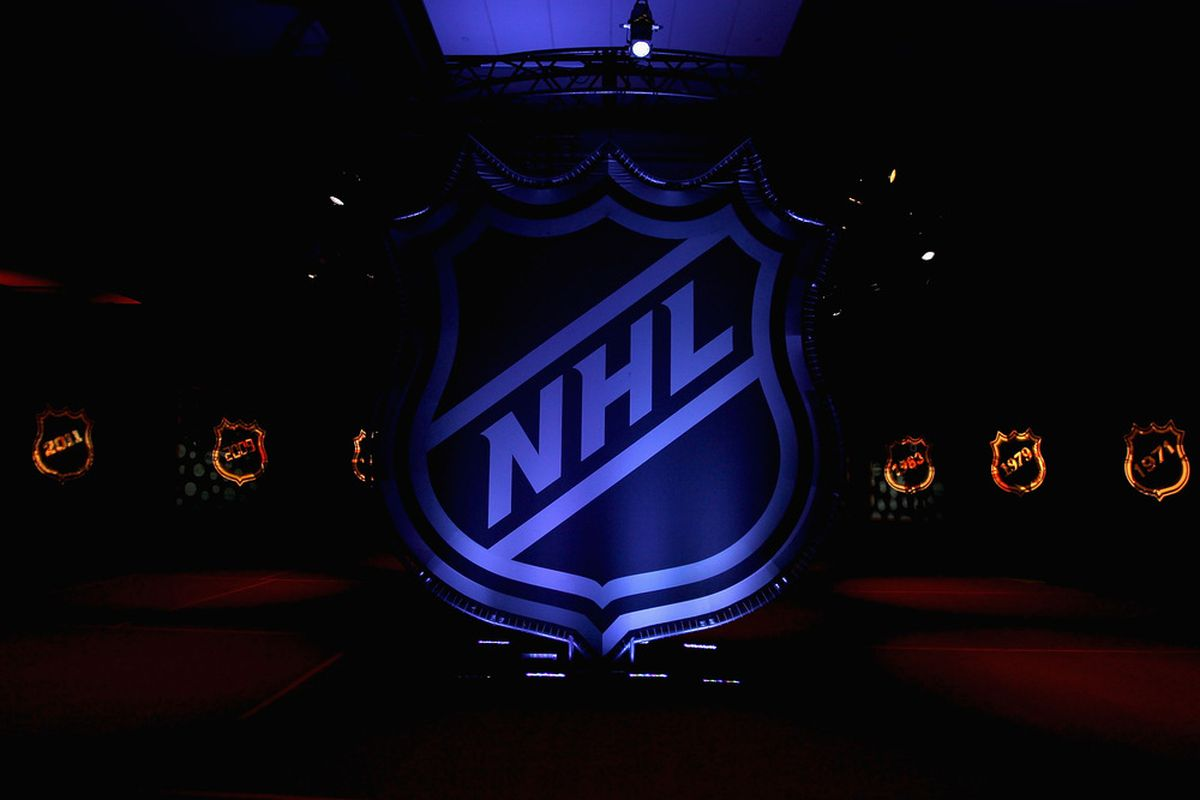 OTTAWA, ON - JANUARY 26:  The NHL logo is displayed during Fan Fair as part of NHL All Star weekend at the Ottawa Convention Centre on January 26, 2012 in Ottawa, Ontario, Canada.  (Photo by Christian Petersen/Getty Images)
