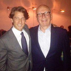 Francesco with Rupert Murdoch.