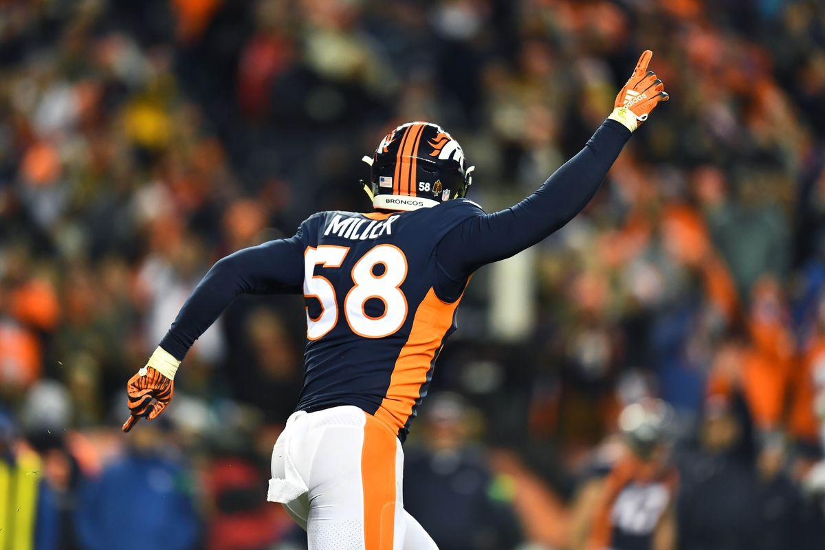 Von Miller breaks Simon Fletcher's all-time Broncos sack record