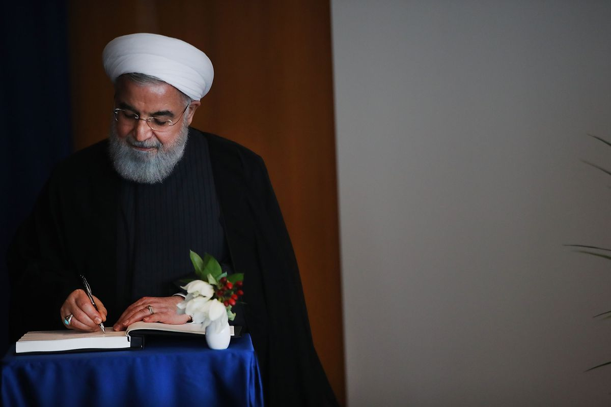 Iranian President Hassan Rouhani at the United Nations on September 26, 2018.