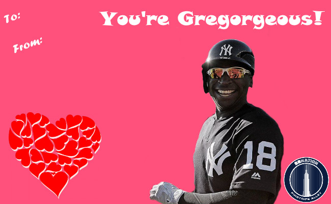 Yankees Themed Valentines Day Cards For Your Loved Ones